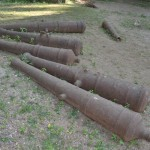 Real Canons used at the Fort